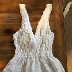 White Cotton Lace Dress